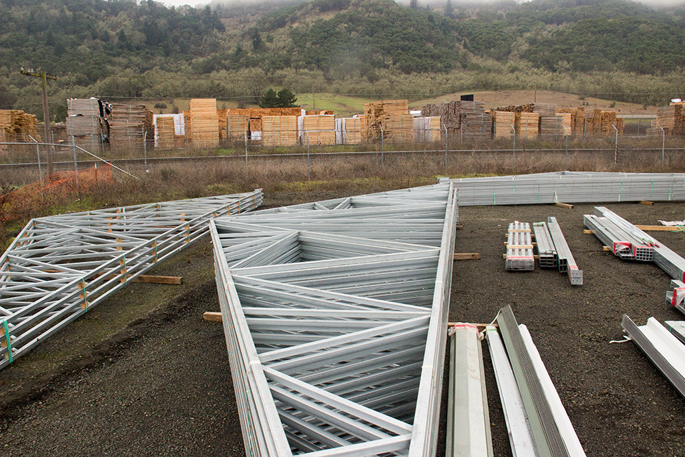 January 2015 - Steel greenhouse parts have arrived